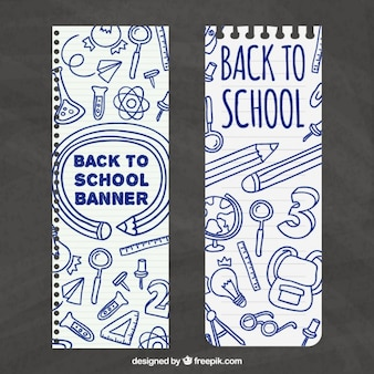 Hand drawn school banners
