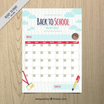 Hand drawn school calendar