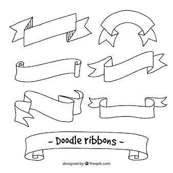 Hand drawn simple ribbons