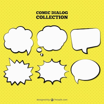 Hand drawn speech bubbles set