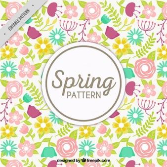 Hand drawn spring pattern
