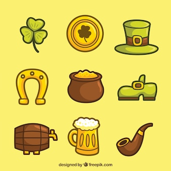 Hand drawn ST. Patrick's day element pack