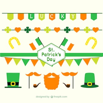 Hand drawn ST. Patrick's day elements pack