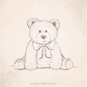 Hand drawn teddy bear