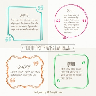 Hand drawn text frames