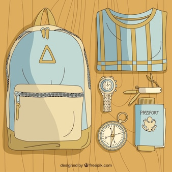 Hand drawn traveler kit