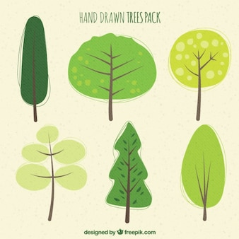 Hand drawn trees pack