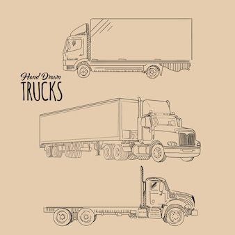 Hand drawn trucks collection