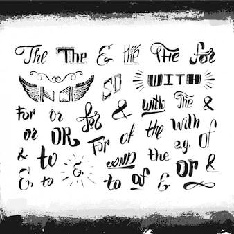 Hand drawn typography elements