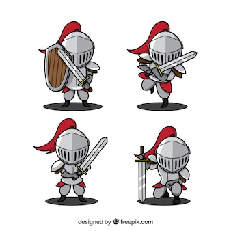 Hand drawn variety of knights