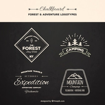 Hand drawn vintage logos expedition