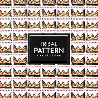 手描きの水彩部族のパターンの背景