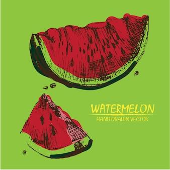 Hand drawn watermelon design