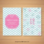 Hand drawn wedding card with fun style