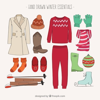 手描きの冬の必需品