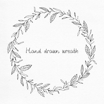 Hand drawn wreath