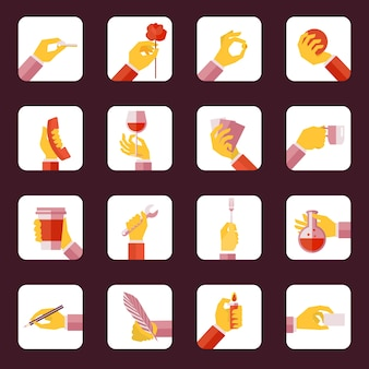 Hand icons collection