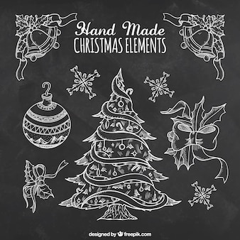 hand made christmas elements