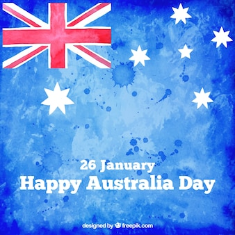 Hand painted Australia day flag background