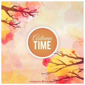 Hand painted autumn time background