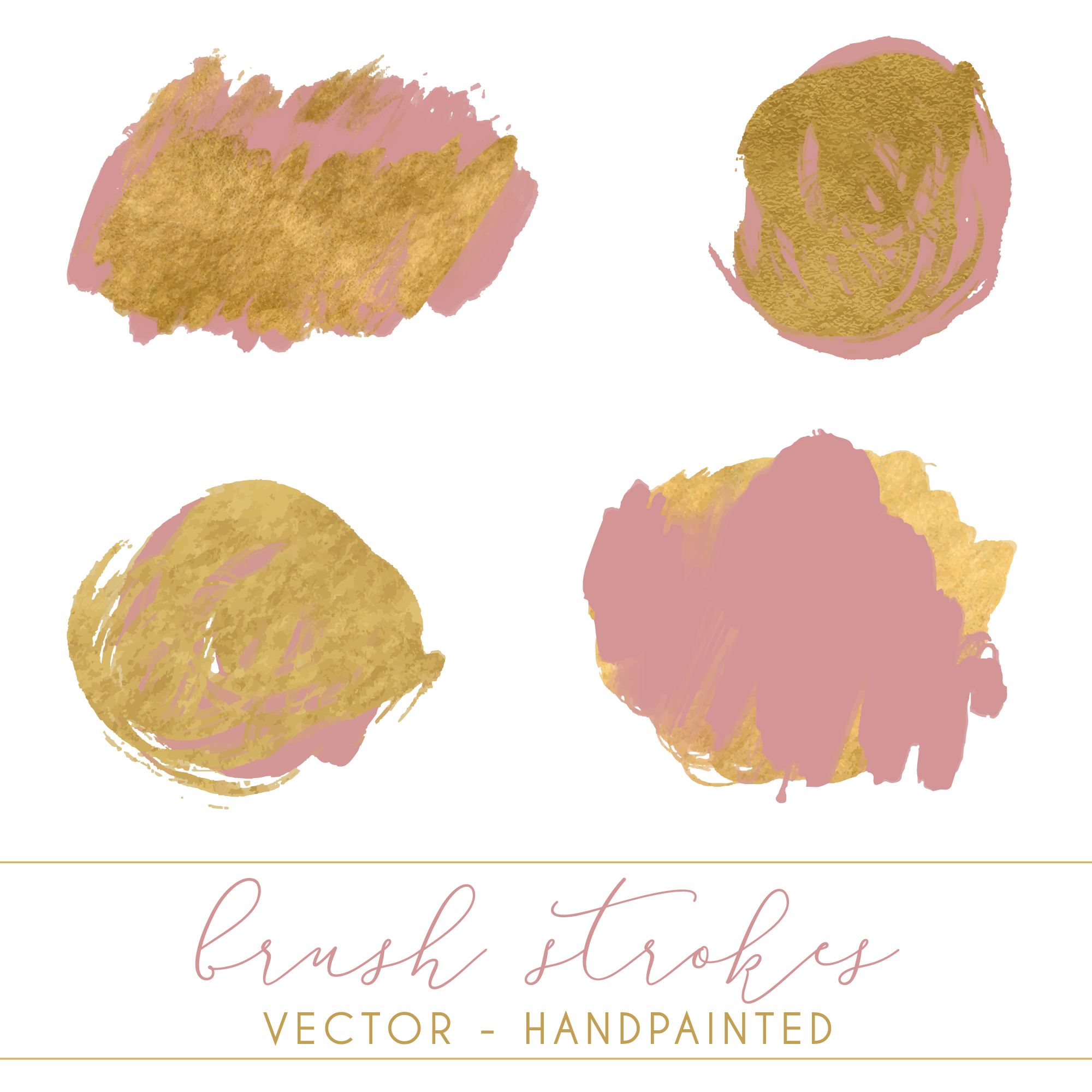 Hand painted brush strokes collection