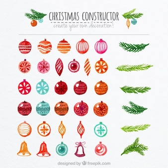 hand painted christmas constructor