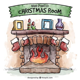 Hand painted christmas room