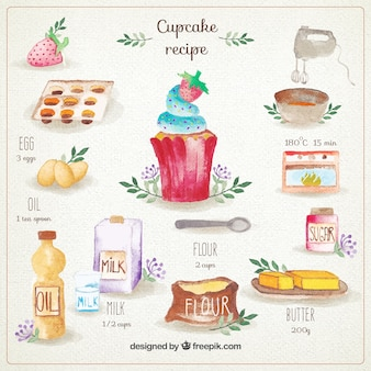 Hand painted cupcake recipe