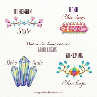 Hand painted ethnic logotypes