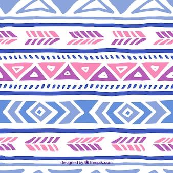 Hand painted ethnic pattern