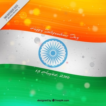 Hand painted flag background of india independence day