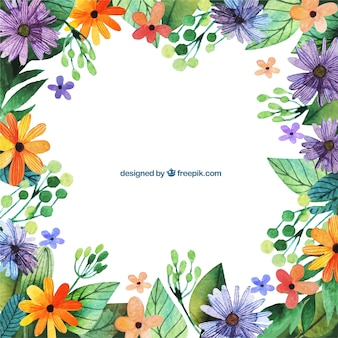 Hand painted floral background