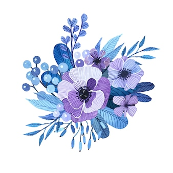 Hand painted floral design