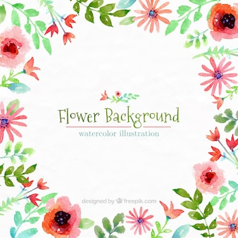 Hand painted flower background
