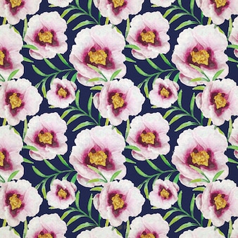 Hand painted flowers pattern