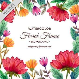 Hand painted flowery background