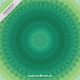 Hand painted green mandala background