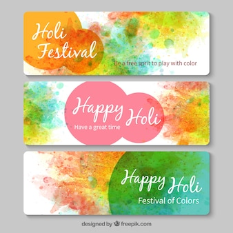 Hand painted Holy festival banners