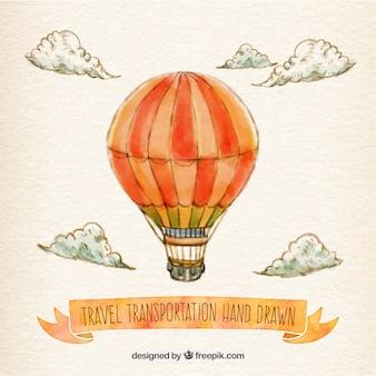 Hand painted hot air balloon