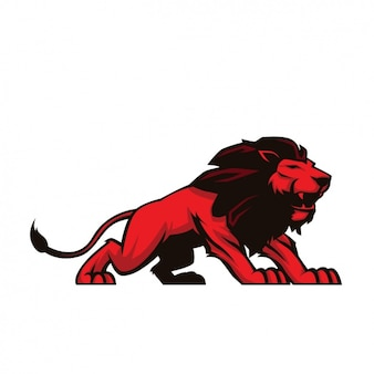 Hand painted lion design