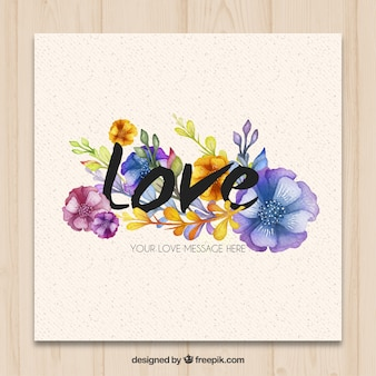 Hand painted love card