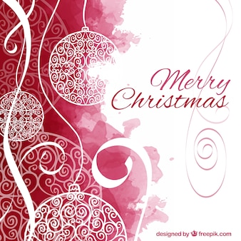 Hand painted merry christmas background