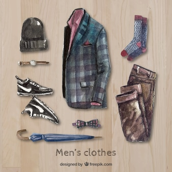Hand painted modern men's clothing