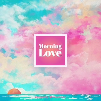 Hand painted morning love background