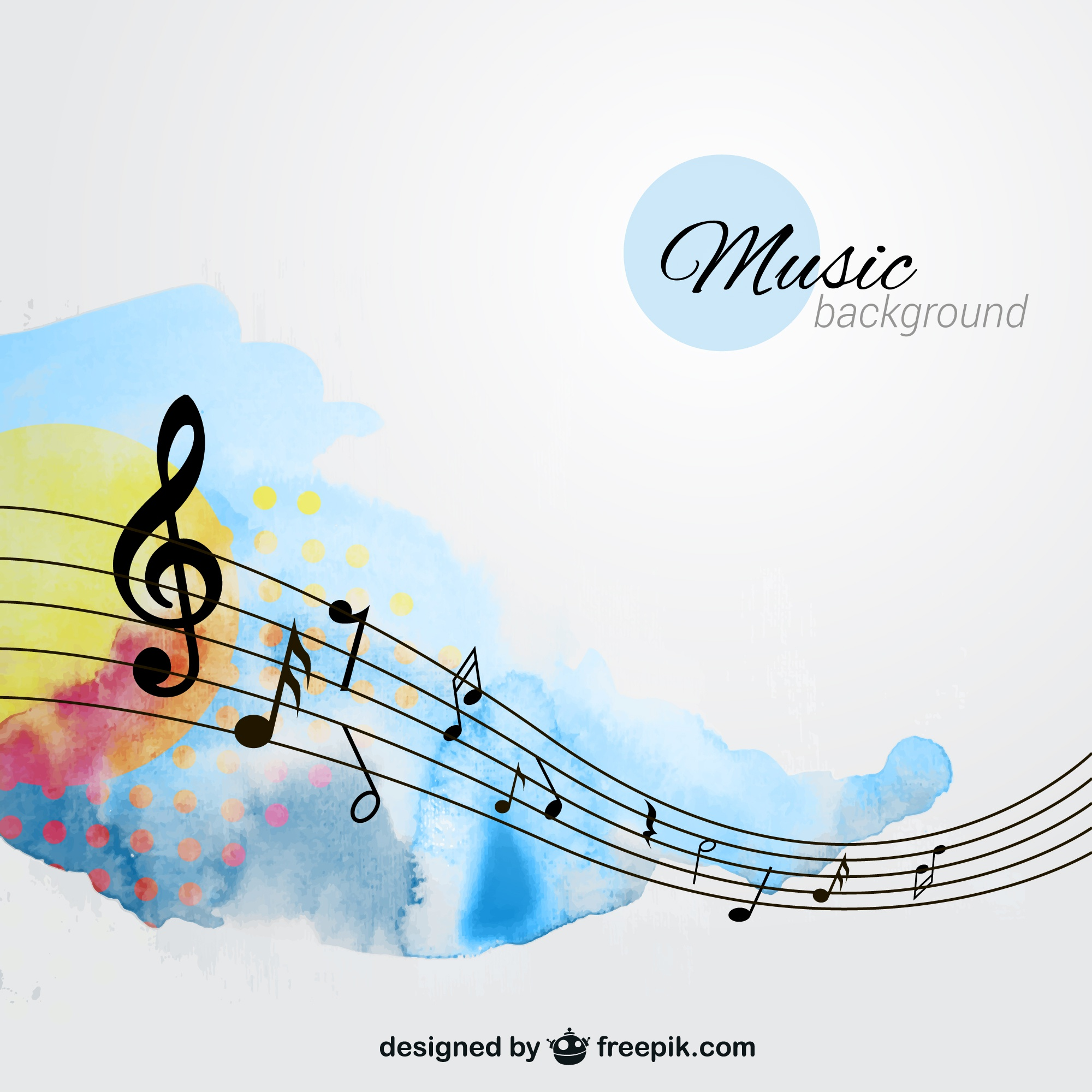 Hand painted music background