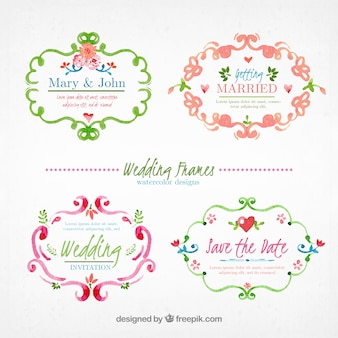 Hand painted ornamental wedding frame collection