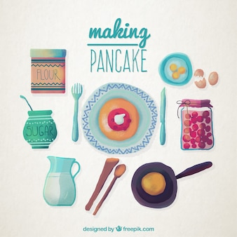 Hand painted pancake recipe