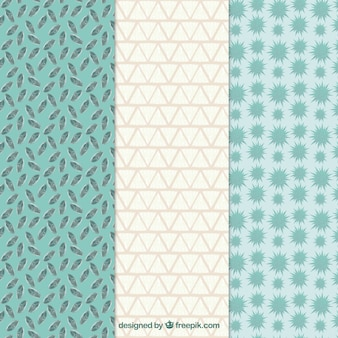 Hand painted patterns in mint tones