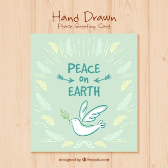 Hand painted peace day card
