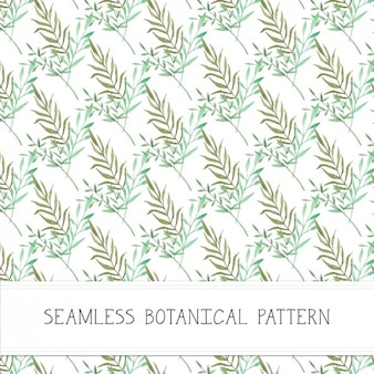 Hand painted plants pattern